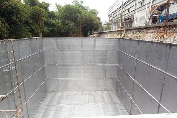 Bể ngầm inox 216 khối tại Kim Bôi - Hòa Bình