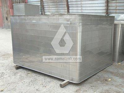 Bể vuông inox bo góc tạo gân tăng cứng Nam Á
