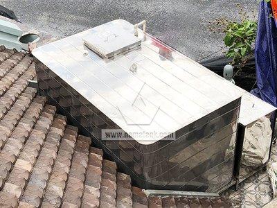 Bể nước mái - Bể vuông inox đặt nổi