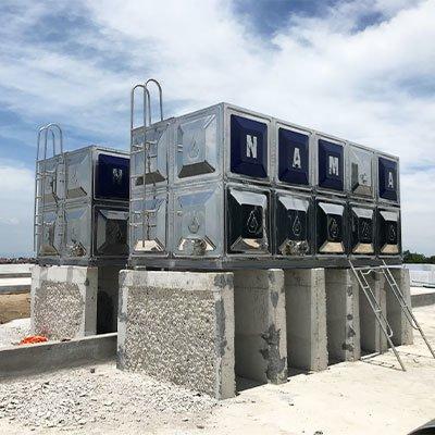 Bể nước lắp ghép inox tại Sân bay Nội Bài