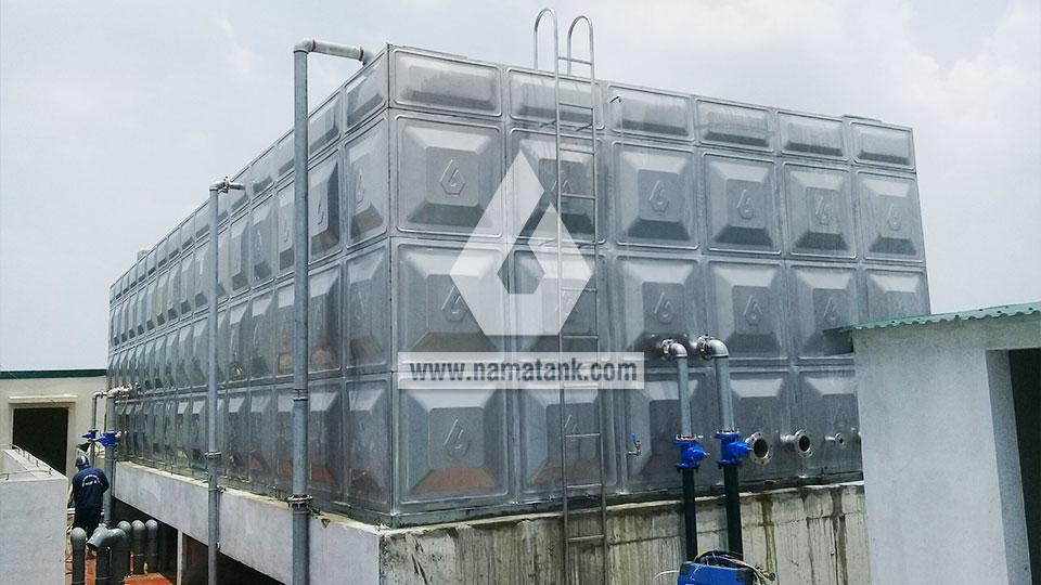 hoàn thiện bể nước lắp ghép inox