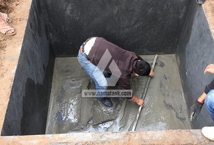 bước 1 lắp đặt bể nước ngầm