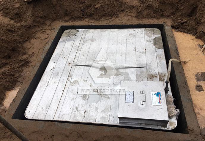 bước 2 lắp đặt bể nước ngầm inox