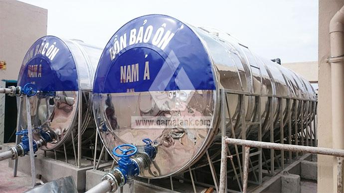 bồn inox giữ nhiệt 30 khối loại ngang