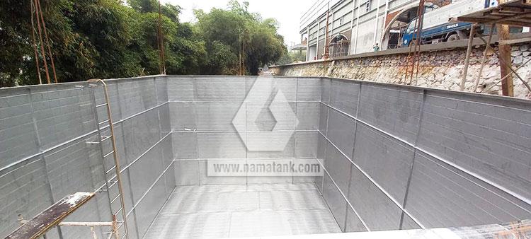 Bể ngầm inox dung tích 216 khối tại Kim Bôi - Hòa Bình